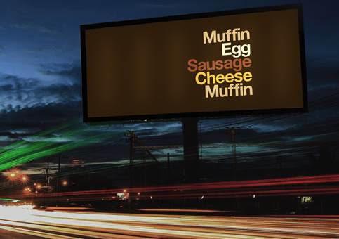 McDonald's'ın İsimsiz ve Logosuz Reklam Panoları
