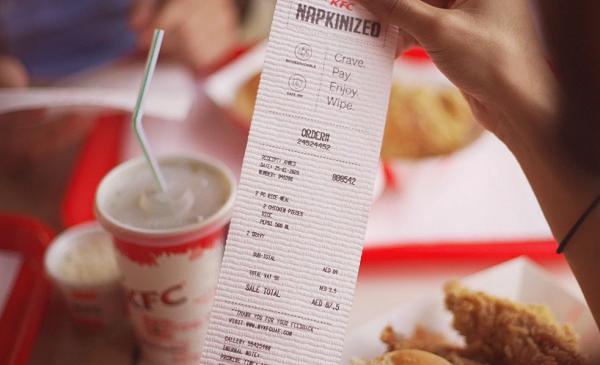 KFC Fişlerini Peçeteye Dönüştürdü