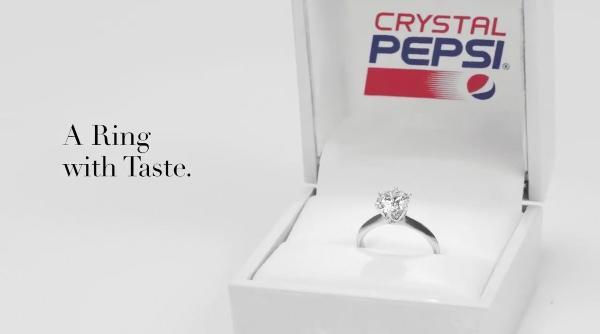 Pepsi, Crystal Pepsi'den  Alternatif ve Sürdürülebilir Bir Nişan Yüzüğü Üretti