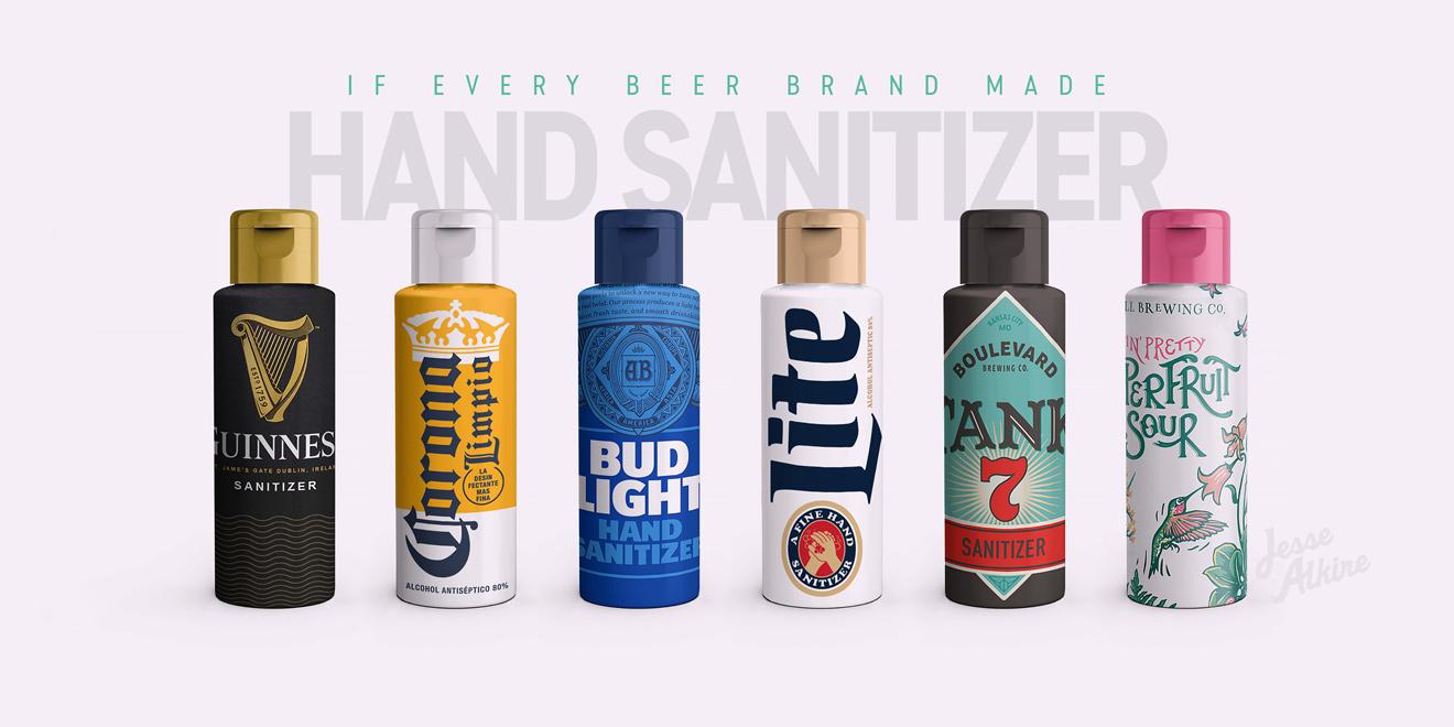 Bira Markaları Dezenfektan Üretseydi, Şişeleri Nasıl Görünürdü?