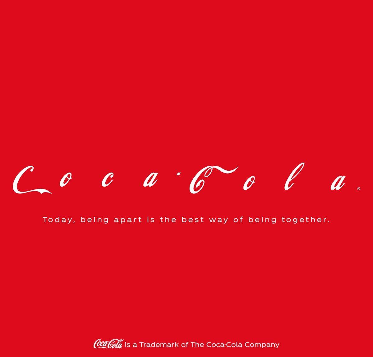 Coca-Cola'dan Sosyal Mesafenin Önemini Vurgulayan Dev Pano