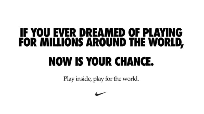 """Nike'den """"Dünya İçin Evinde Oyna"""" Kampanyası"""