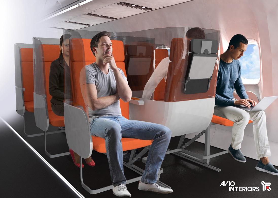 İtalyan Şirketten Salgına Uygun Uçak Koltuğu Tasarımları