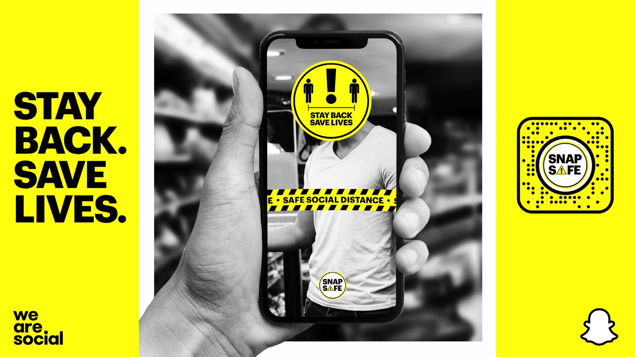 Snapchat'ten Sosyal Mesafeyi Korumayı Sağlayan Artırılmış Gerçeklik Lensi