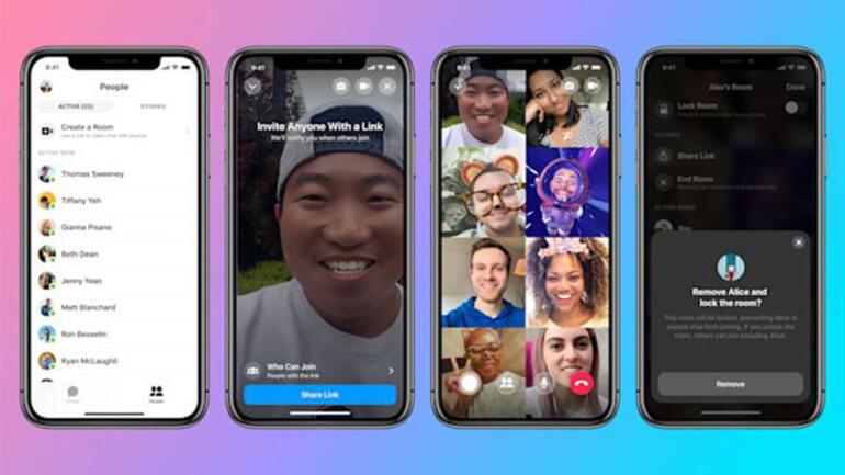 """Facebook'tan 50 Kişiye Kadar Görüntülü Konuşulabilen Özellik: """"Messenger Rooms"""""""