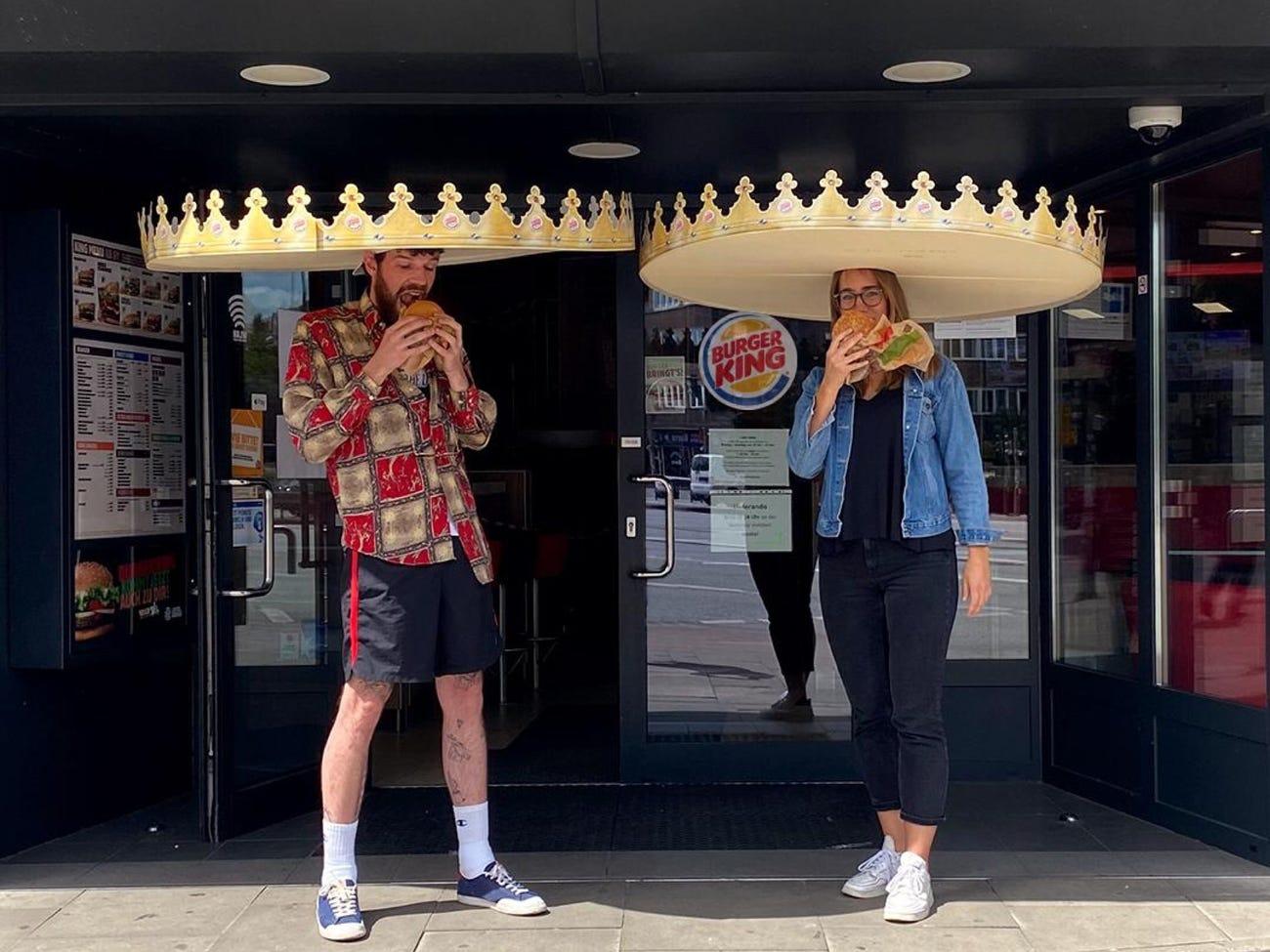 Burger King Almanya'dan Sosyal Mesafe Tacı