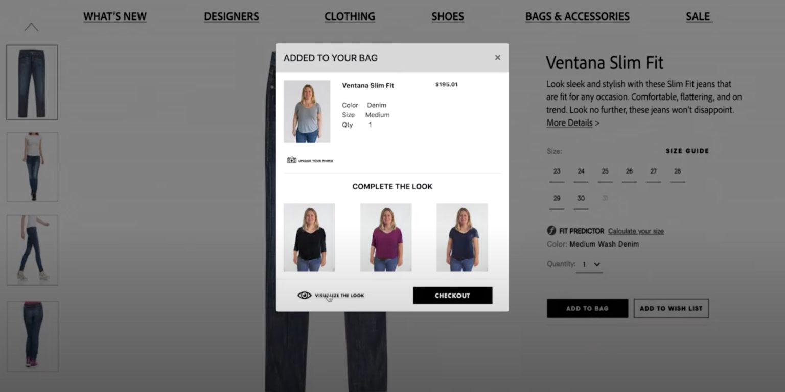 Adobe, Online Alışverişte Kıyafetleri Sanal Olarak Denemeyi Sağlayan Bir Teknolojiyi Test Ediyor