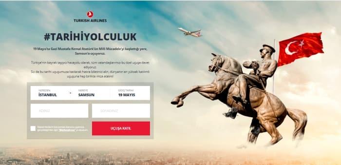 Türk Hava Yolları, Herkesi 19 Mayıs'taki Tarihi Yolculuğa Çağırdı