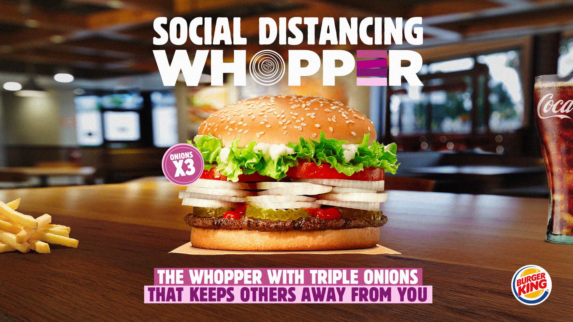 Burger King'den Bol Soğanlı Whopper ile Sosyal Mesafe Çözümü