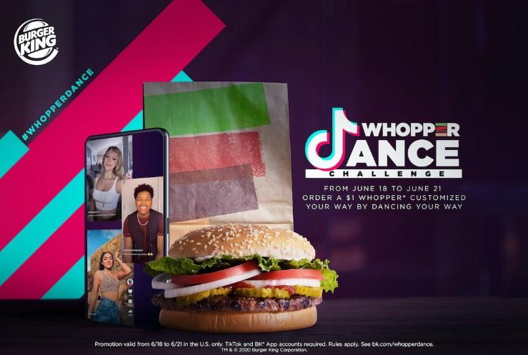 Burger King, TikTok Dansı Yapanlara 1 Dolara Whopper Veriyor