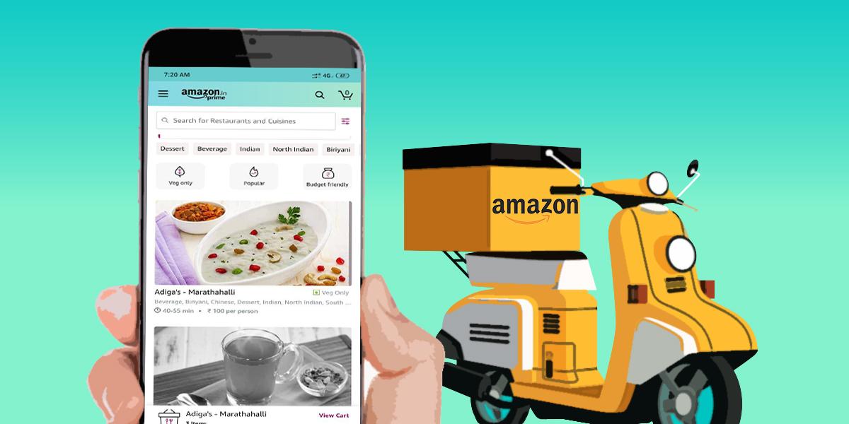 Amazon, Hindistan'da Online Yemek Dağıtımına Başladı