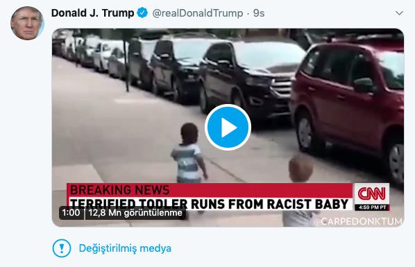 Twitter, Trump'ın Tweet'ine 'Değiştirilmiş Medya' Etiketi Ekledi