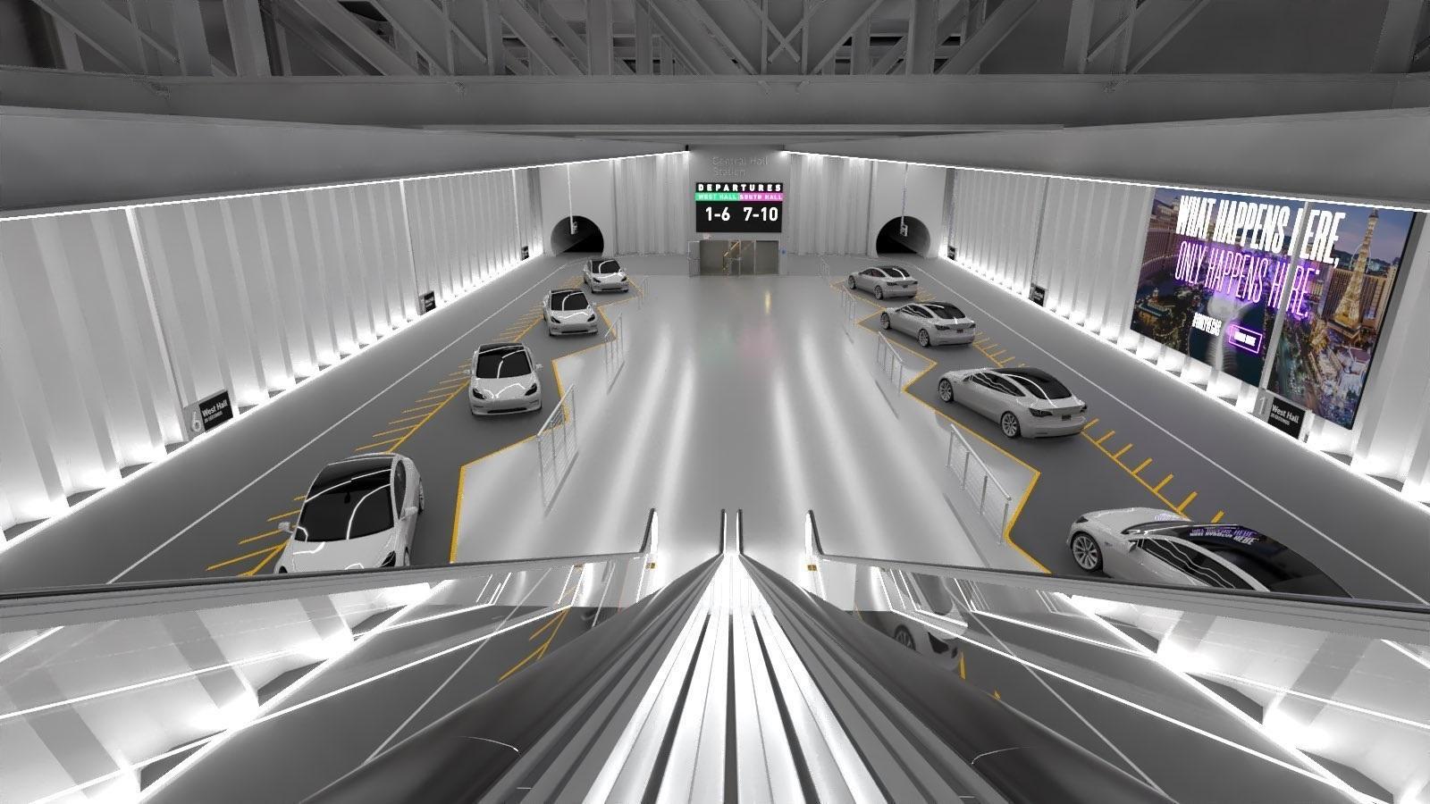Elon Musk, Boring Company'nin Tünelinin Görselini Paylaştı