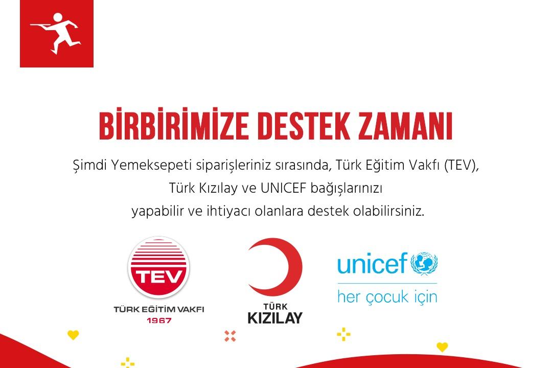 Yemeksepeti; Kızılay, TEV ve UNICEF İş Birliğiyle Bağış Projesini Hayata Geçirdi