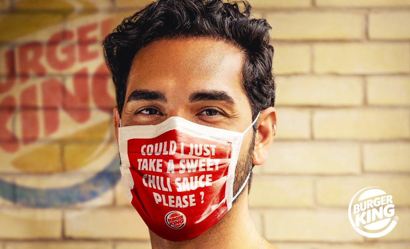 Burger King'ten Güvenli Sipariş Maskesi