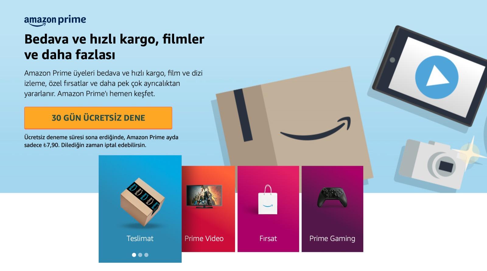 Amazon Prime, Artık Türkiye'de