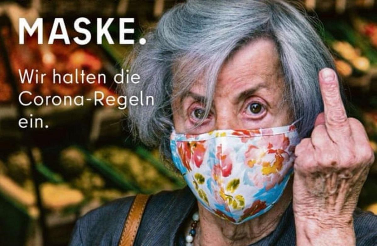 Maske Takmayanlara Orta Parmak Gösteren Ofansif Reklam Yasaklandı