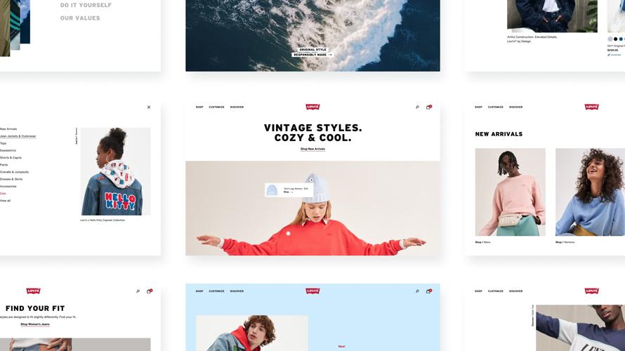 Levi's, Online Ortamda Mağaza Deneyimi Sunuyor