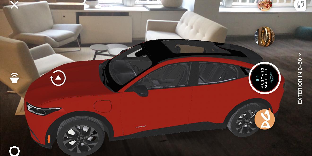 Ford, Instagram AR ile Elektrikli Mustang'i Tanıttı