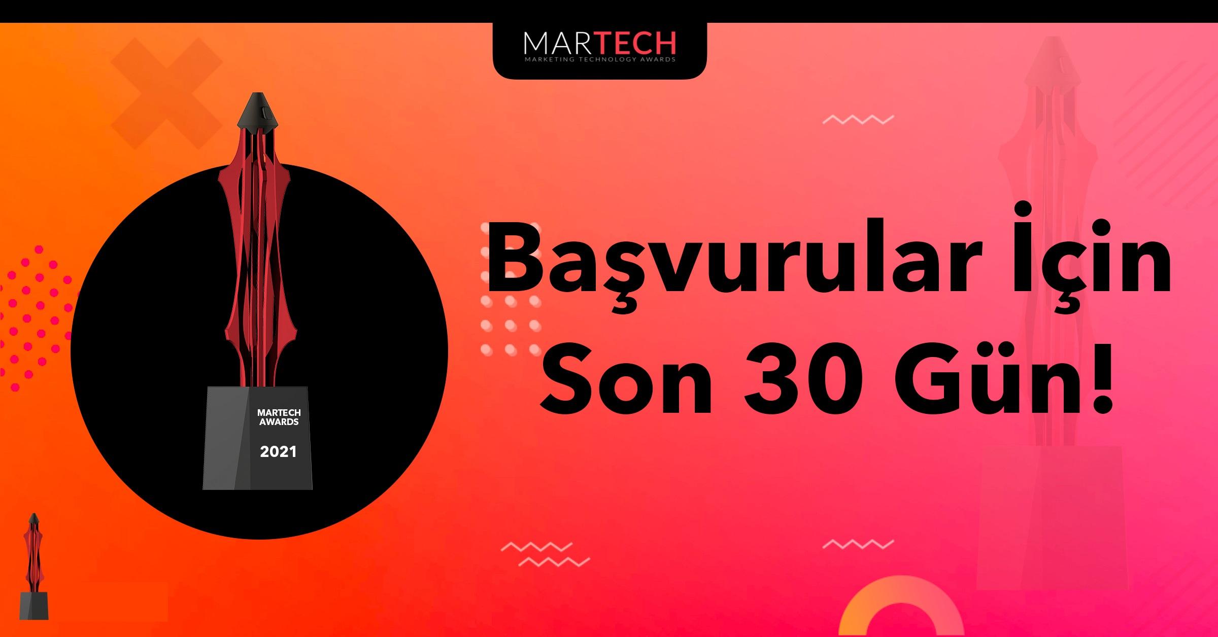 MarTech Awards Başvuruları İçin Son 30 Gün