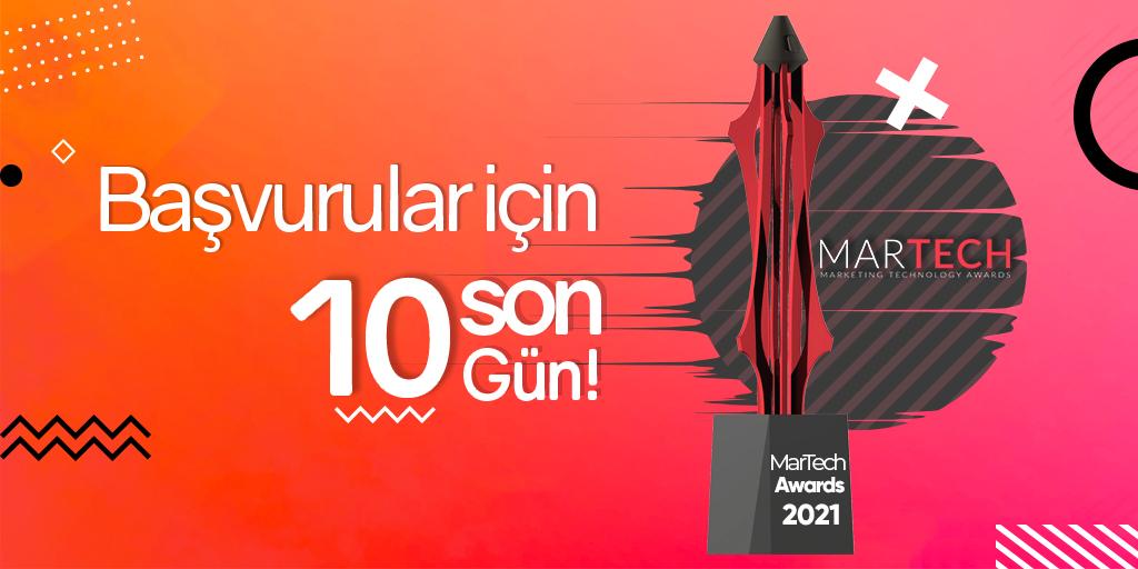 MarTech Awards Başvuruları İçin Son 10 Gün