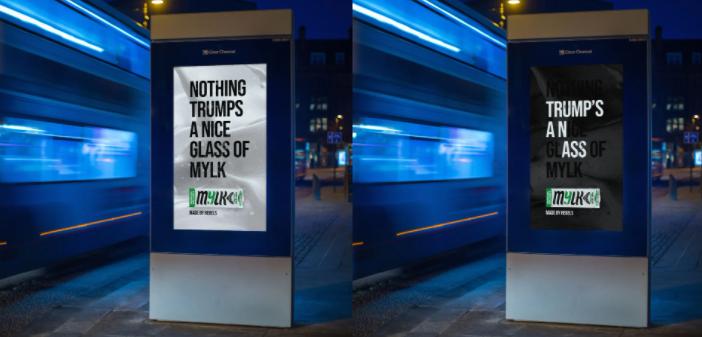 İngiltere'de Bir Süt Markasının Gizli Mesaj İçeren Billboard Afişi