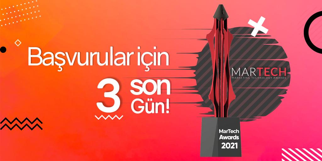 MarTech Awards Başvuruları İçin Son 3 Gün
