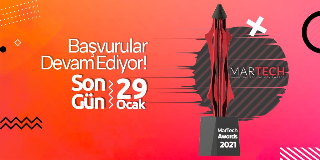 MarTech Awards 2021 Başvuruları Devam Ediyor