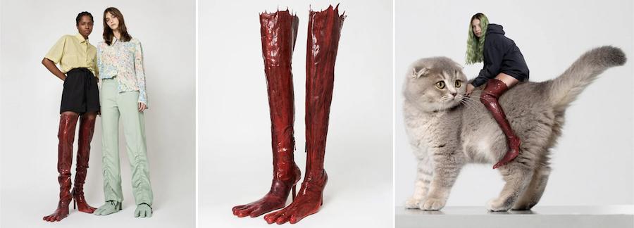 Lüks Markaların Arta Kalan Kumaşları İle Canavar Ayağı Tasarımlı Ayakkabı Üretildi