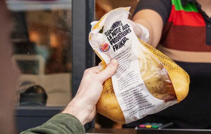 Burger King, Menü Sipariş Eden Müşterilerine Bir Kilo Patates Veriyor