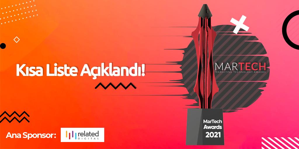 MarTech Awards 2021'de Kısa Listeye Kalan Projeler Belli Oldu