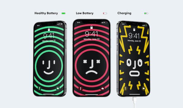 iPhone'un Yeni Akıllı Duvar Kağıtları, Pil Durumunu Farklı Tasarımlarla Gösteriyor