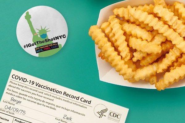 ABD'de Aşılanmış Müşterilerine Bedava Patates Kızartması Veren Restoran