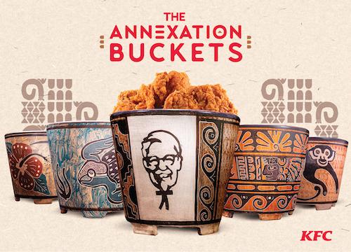 Eski bir kültürden esinlenilen KFC kovaları