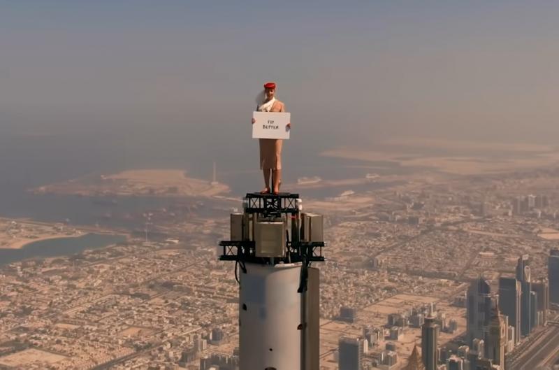Emirates, dünyanın en yüksek binasından cesur bir reklam filmi yayınladı