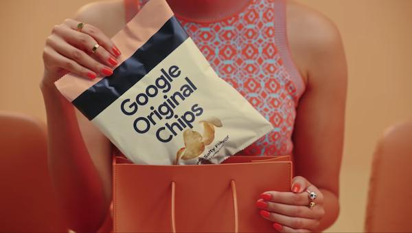 Google aromalı patates cipsi