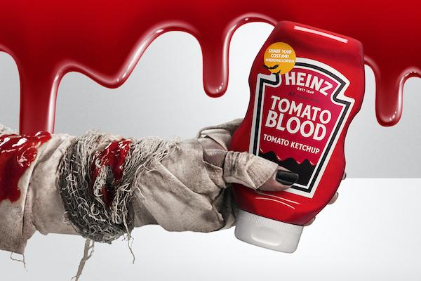 Heinz'dan kan dekoru olarak kullanmak için yeni bir ketçap
