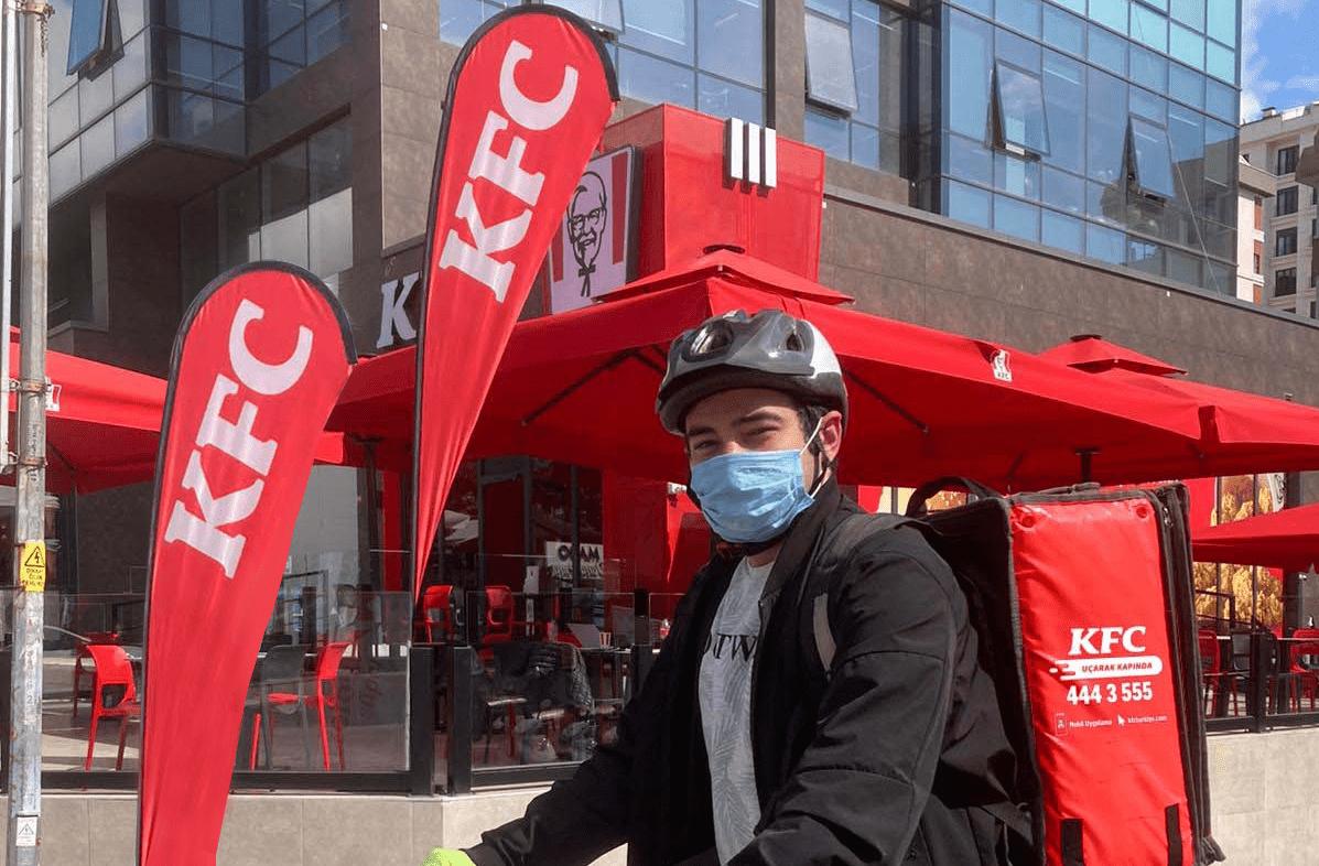 KFC Türkiye, bisikletli kurye hizmeti vermeye başladı